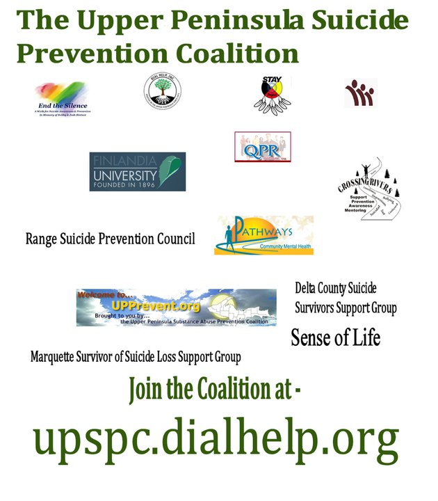 U.P. Suicide Help Graphic