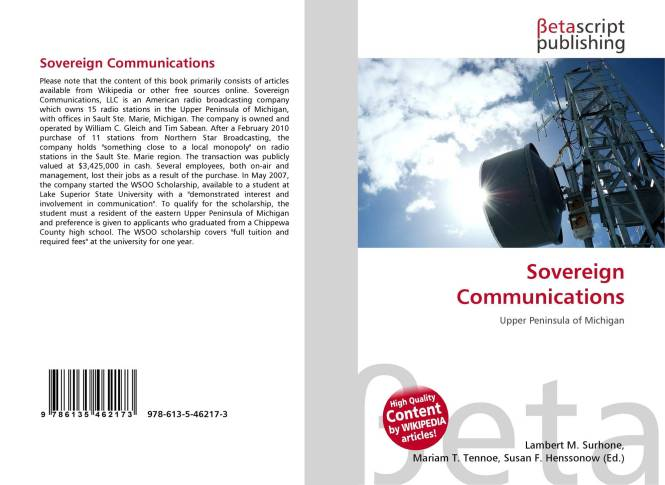 Sovereign Communications Promo includes Wikipedia