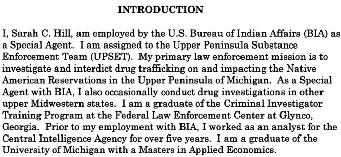 Spencer Troy Ward Criminal Complaint graphic #2 Agent Hill