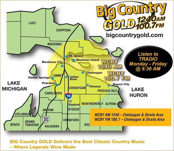 WCBY Big Country Gold coverage map
