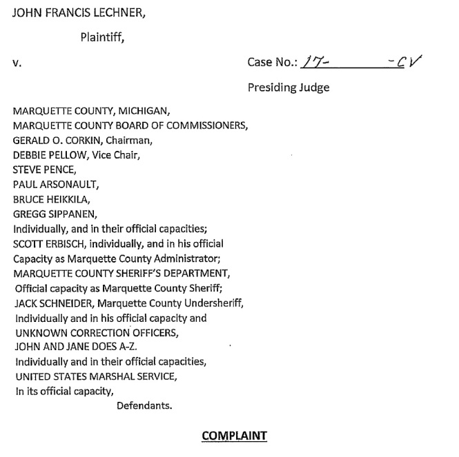 inmate-john-francis-lechner-vs-mqt-cnty-others-main-complaint-first-page