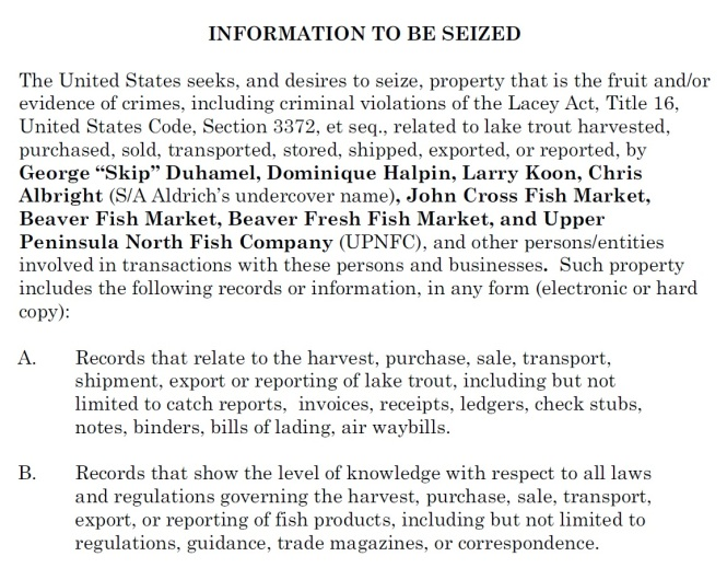 places-searched-john-cross-fish-mkt-beaver-island-fish-mkt-info-to-be-seized