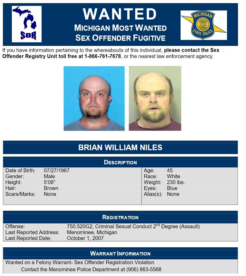list michigan sex offenders