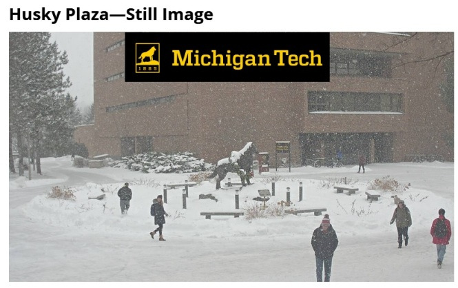 MTU snow webcam 12-8-17 2