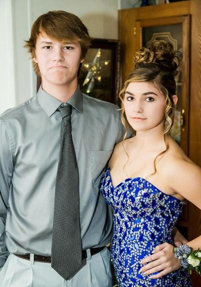 Ben Johnson, and date, at Marquette Senior High School 2014 Christmas Dance