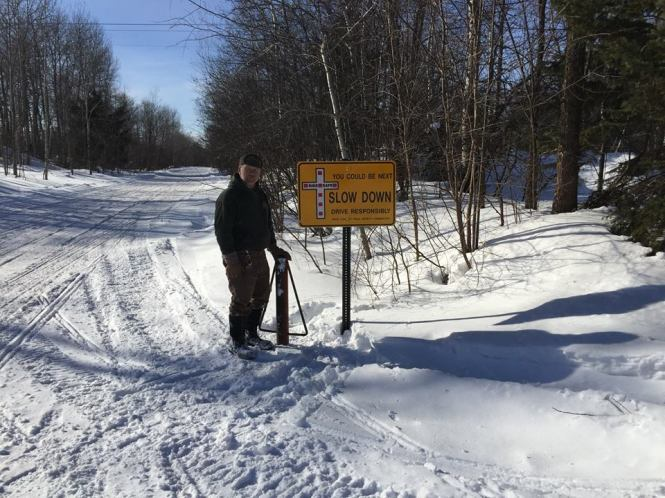 Snowmobile speed kills warning from the Iron County Trails Safety Committee in NE Wisconsin and their Iron County Sheriff's Department and Sheriff Tony Furyk