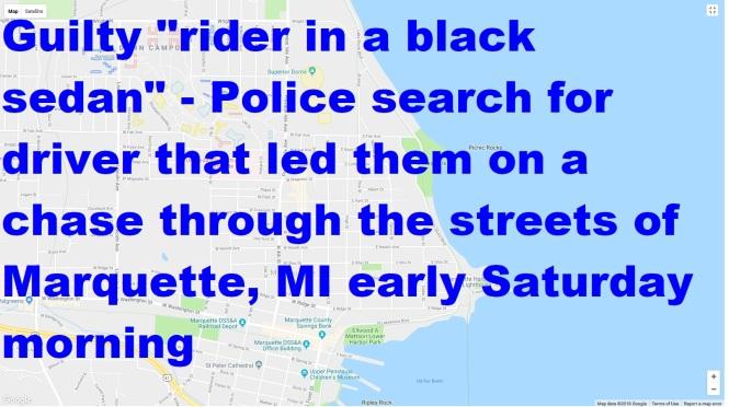 Rider in black sedan graphic