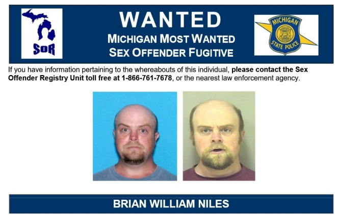 Sex offender Niles most wanted