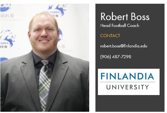 Finlandia Football Coach Robert Boss
