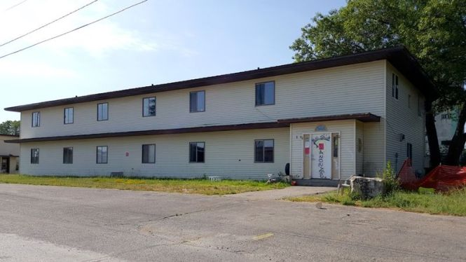 July 2016 photo by John Stanton via fortwiki of the former Soo AFS base bachelor officer quarters