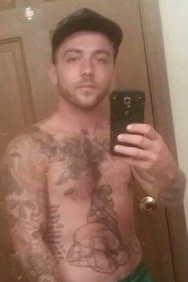 Kevin James Waller selfie with tats