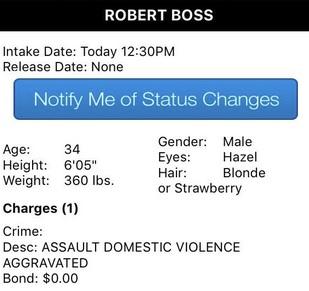 Robert Boss arrest