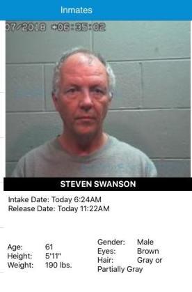 Steven Swanson April 7 arrest